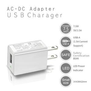 The smallest 7.5W 5V/1.5A high efficiency fast charger