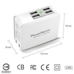 PowerFalcon 25W multi USB port foldable charger