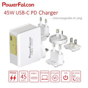 PowerFalcon 45W PD charger / interchangeable
