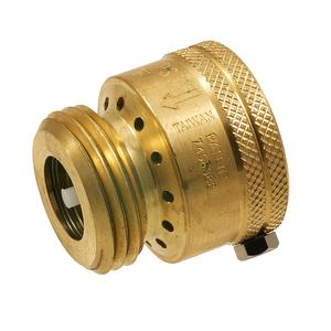 Brass vacuum breaker for garden hose with setting screw