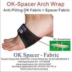 Adjustable 3D Breathable OK Spacer Fabric Arch Brace