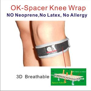 Adjustable 3D Breathable OK Spacer Fabric Knee Support