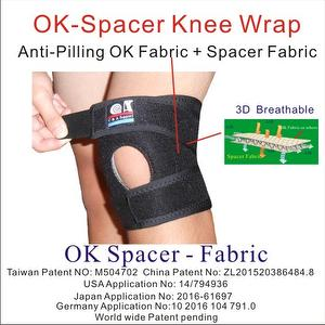 Adjustable 3D Breathable OK Spacer Fabric Knee Brace