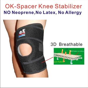Adjustable Breathable Elastic OK Spacer Fabric Knee wrap