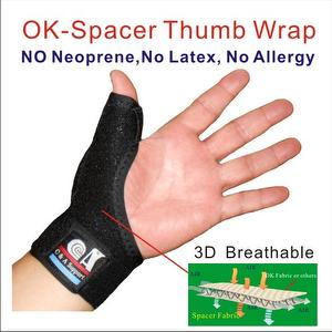 Adjustable Breathable Elastic OK Spacer Fabric Thumb wrap