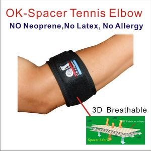 3D Breathable Elastic OK Spacer Fabric Tennis Elbow Support