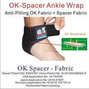Adjustable 3D Breathable OK Spacer Fabric Ankle Brace