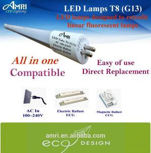 All in one LED Lamps T8(G13) Retrofit led lamps