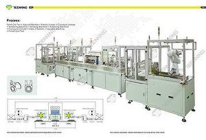 Production line for water valve coil