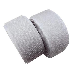 1 inch #020 Sliver Gary Sew on Hook and Loop Fastener Tape