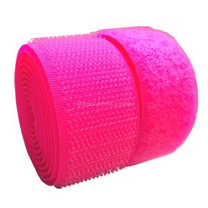 1 inch #043 Liminous Pink Sew on Hook and Loop Fastener Tape
