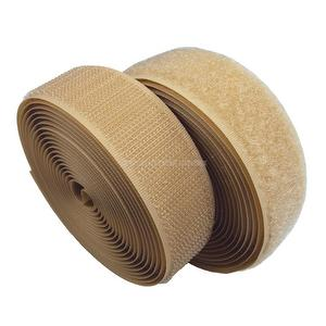 1 inch #061 Beige Sew on Hook and Loop Fastener Tape