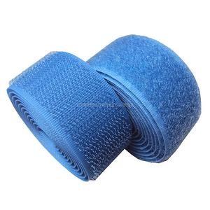 1 inch #080 Med Blue Sew on Hook and Loop Fastener Tape