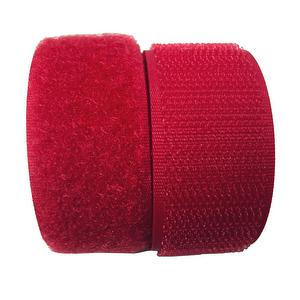 1 inch #158 Bright Red Sew on Hook and Loop Fastener Tape