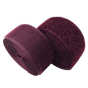 1 inch #200 Burgundy Sew on Hook and Loop Fastener Tape