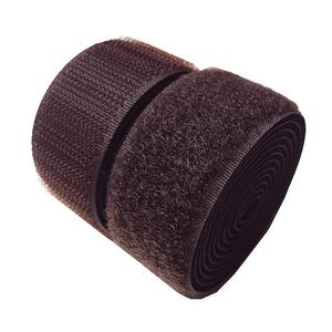 1 inch #160 Dark Brown Sew on Hook and Loop Fastener Tape