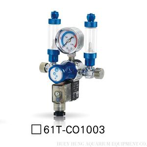 CO2 Solenoid Regulator with Dual Connector