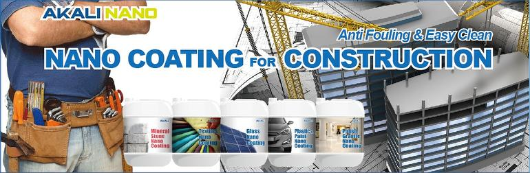 Nano Coating for Construction - Anti Fouling & Easy Clean