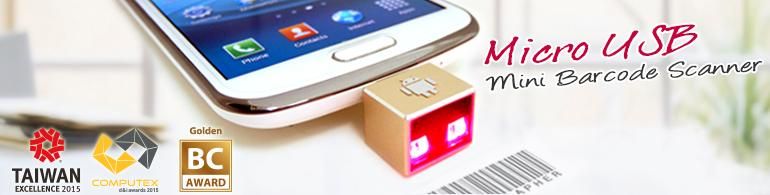 Micro USB Mini Barcode Scanner for Mobile POS